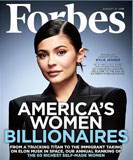 Kylie Jenner on the cover of Forbes in August 2018