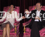 Ghislaine Maxwell and Kevin Spacey on the Queen's thrones, image: The Daily Telegraph via article