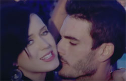 "Katy Perry and Josh Kloss in ""Teenage Dream"" music video, Capitial Records"