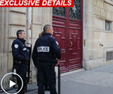 Cops outside Kim Kardashian West's Paris appartment