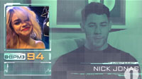 Nick Jonas and Selena Gomez on Nick Grimshaw's Radio 1 Breakfast Show Heart Rate Monitor