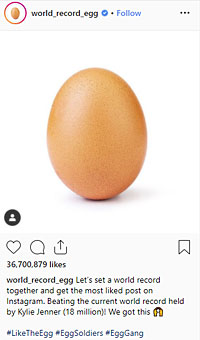 world_record_egg: Let's set a world record together and get the most liked post on Instagram.