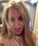 Britney Spears video message