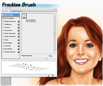 Freckles brushes