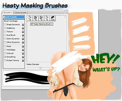 Hasty masking brushes