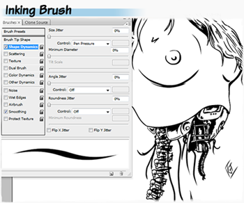 Inking brushes