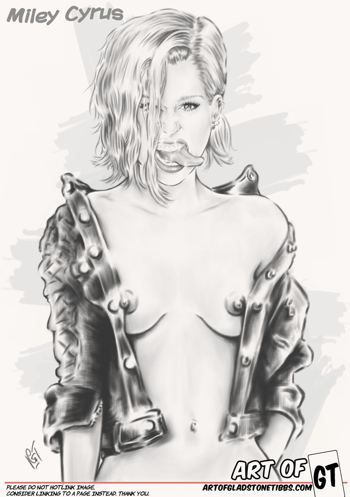 Miley Cyrus—Fierce Tits and Tongue