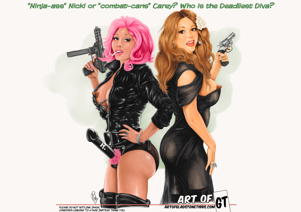 """Ninja-ass"" Nicki Vs. ""combat-cans"" Carey? Who is the Deadliest Diva?"