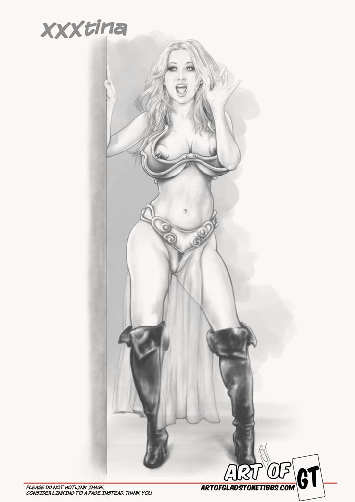 XXXtina Princess Leia costume